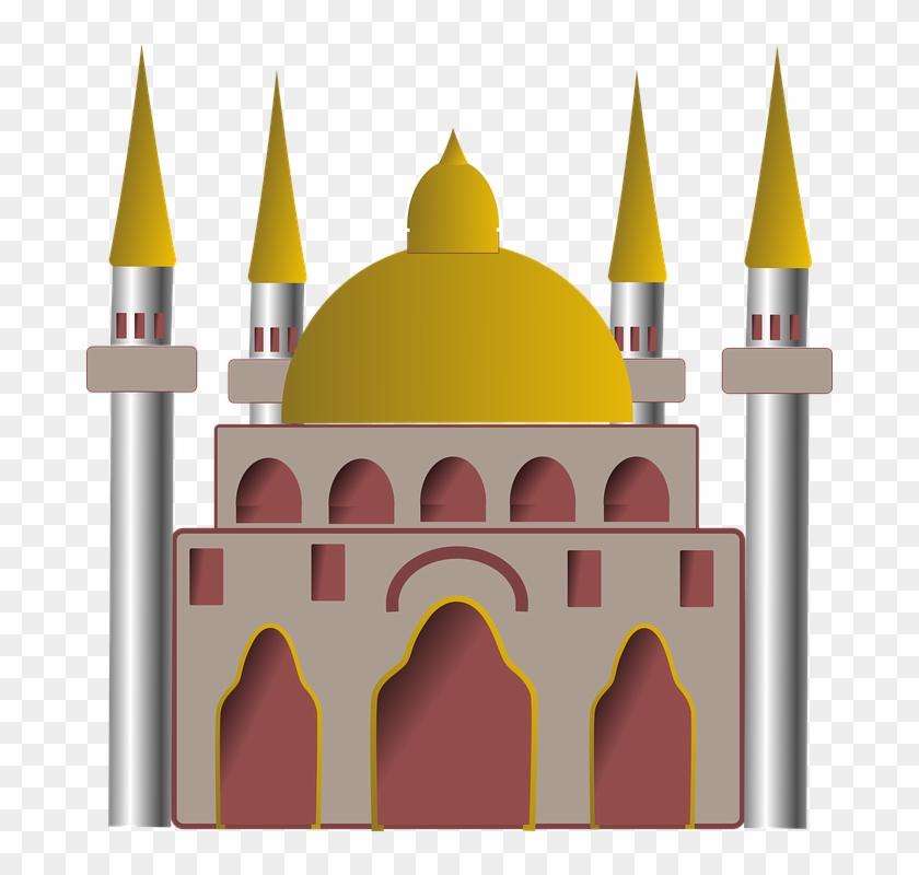 Mosque Clipart Building - Mosque Building Clipart #290233