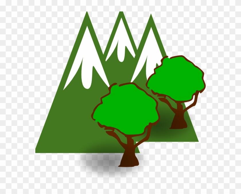 Mountain Forest Clip Art At Clkercom Vector - Green Mountain Clip Art #290241