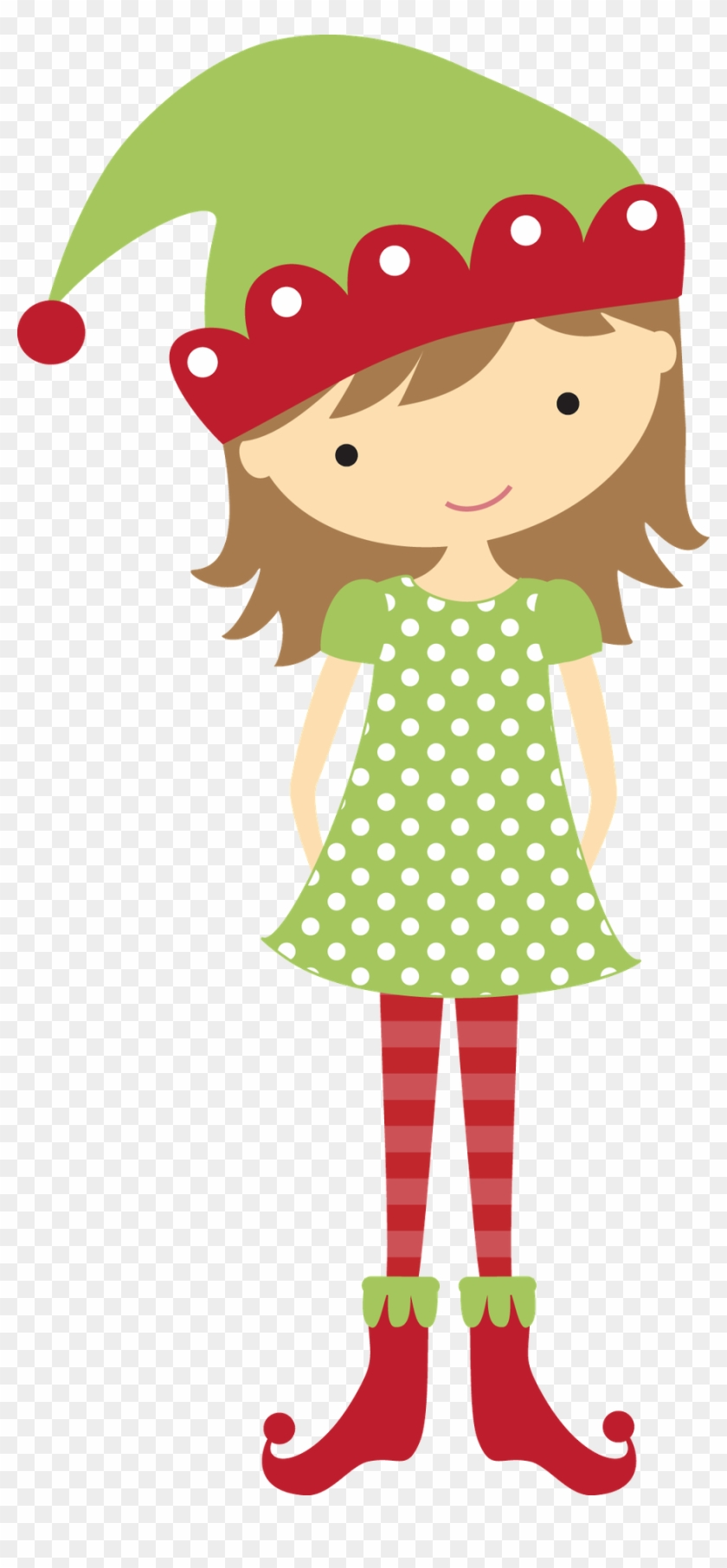 Christmas Girl Elf Clip Art - Christmas Elf Girl Clip Art #290255