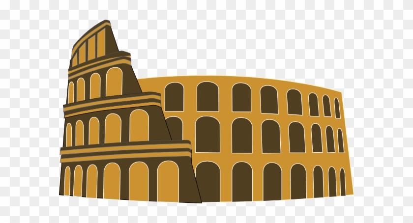 Arch Clipart Ancient Roman - Rome Coliseum Clip Art #290259
