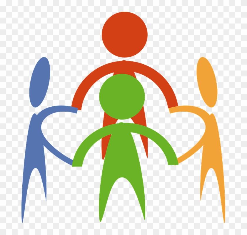 Cartoon People Holding Hands #290268