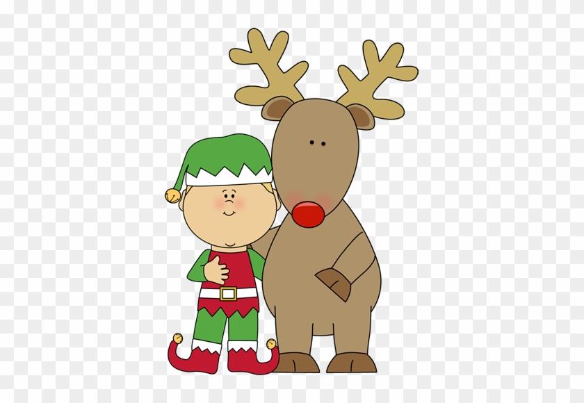 Elf And Reindeer Clip Art - Reindeer Job Application #290276
