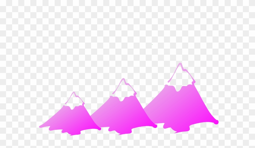 Three Mountain Peaks Purple Clip Art At Clker - Mountain Clip Art #290324
