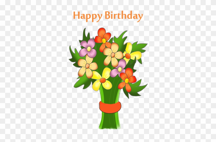 28 Collection Of Birthday Clipart Flowers - Free Happy Birthday Flowers Clip Art #290331