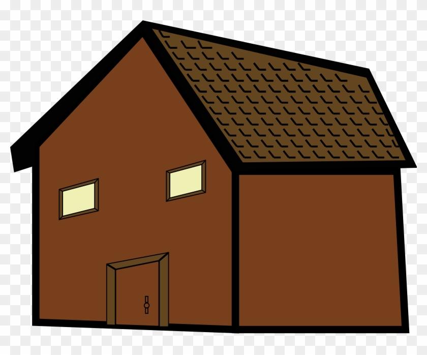 Cottage Clipart Simple House - Brown House Clip Art #290346