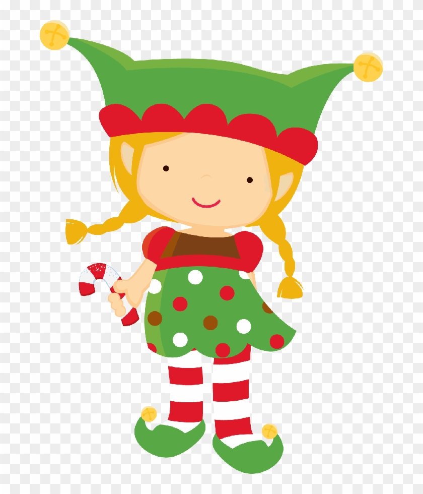 Free Christmas Elf Clipart - Girl Elf Clipart #290365