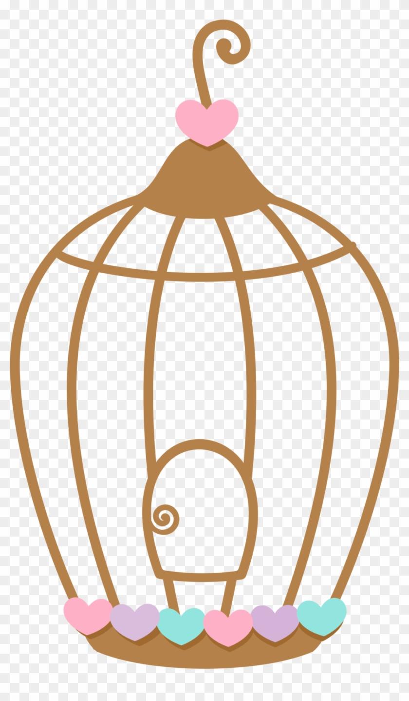 Aves & Passáros & Corujas Etc - Bird In Cage Clipart #290398