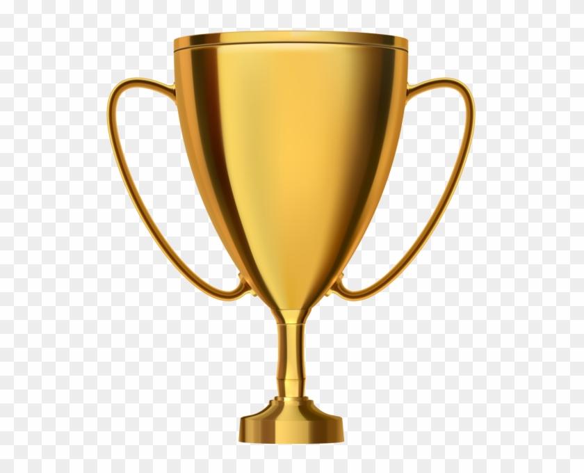 Gold Trophy Cup Transparent Png Clip Art - Transparent Background Trophy Clipart #290418