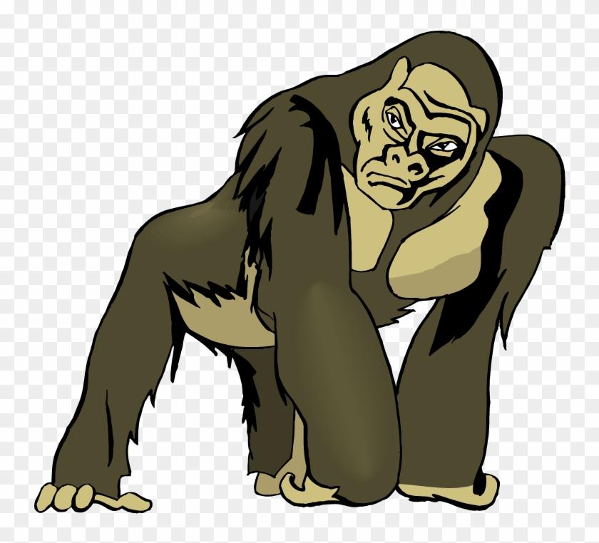 Gorilla Clipart - Clip Art Apes #290429