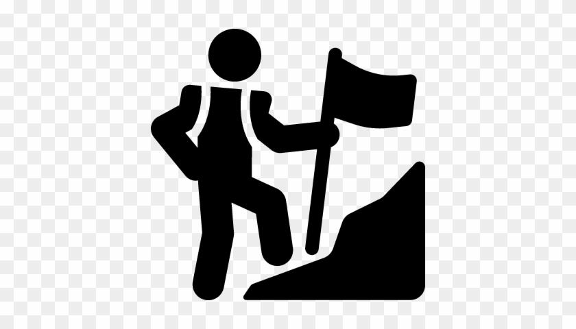Mountain Climb Vector - Mountain Climb Icon #290441