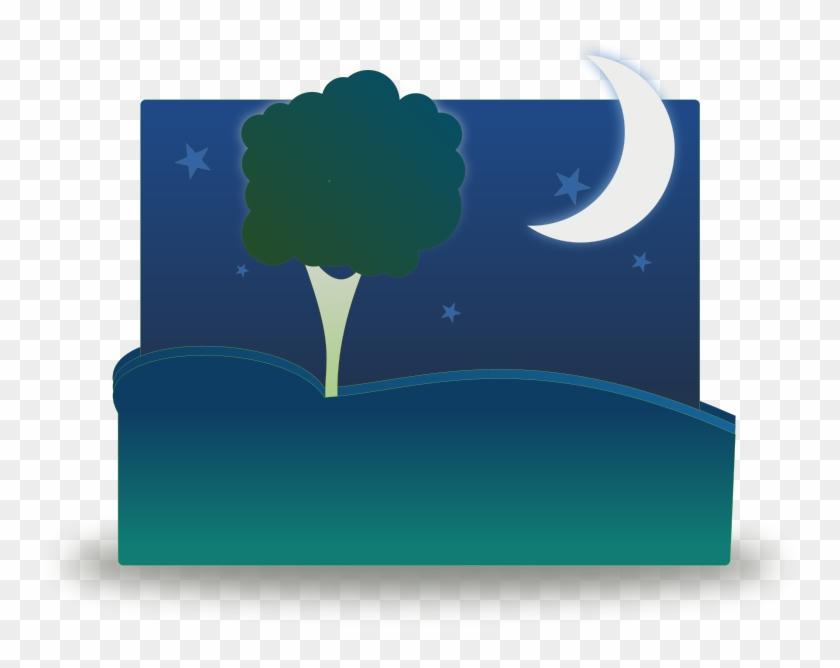Free Sunset Free Landscape By Night - Night Clip Art #290452