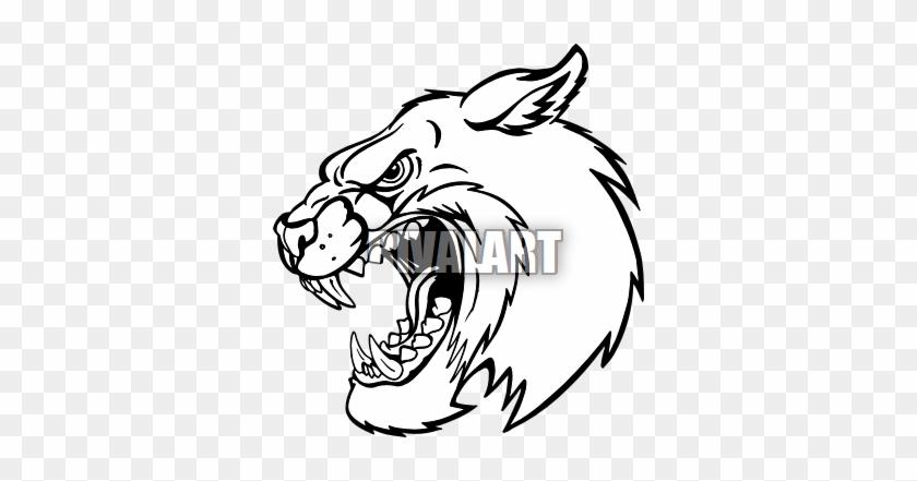 Bobcat Head Clip Art - Bobcat #290484