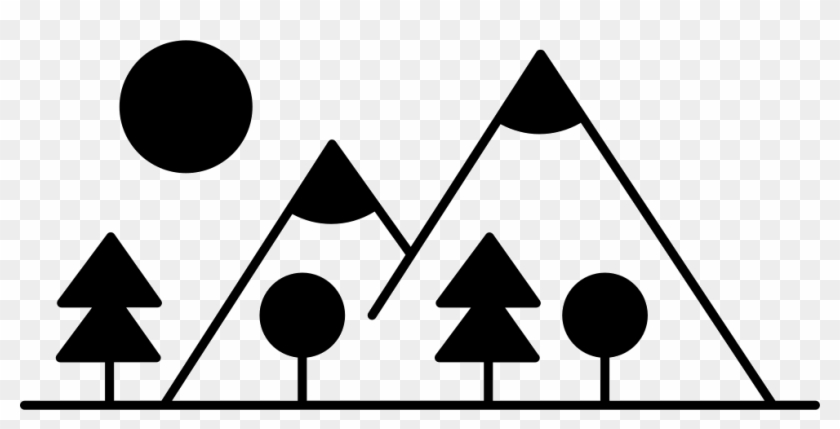 Mountain Side With Trees Made Up Different Shapes Comments - Triangle #290482