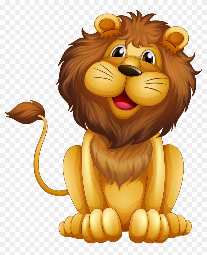 León De Dibujos Animados Ilustración - L Is For Lion #290499
