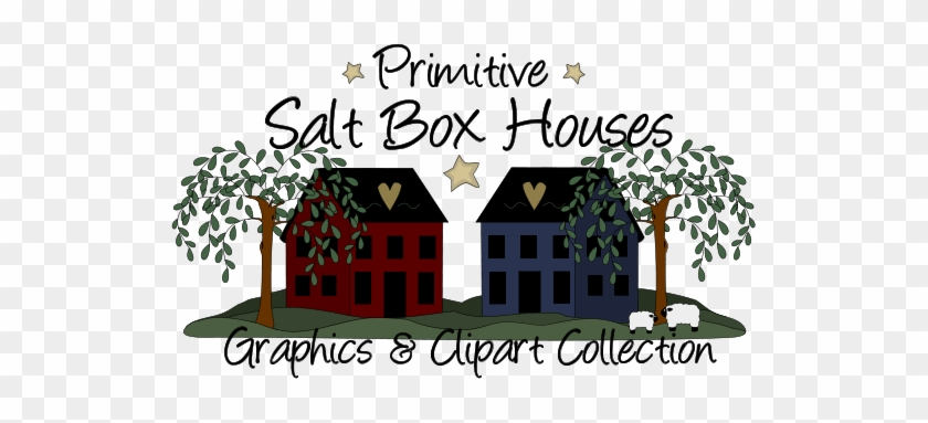 Primitive Saltbox House Patterns - Primitive Cliparts #290540