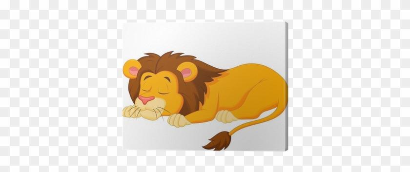 Cuadro En Lienzo León De Dibujos Animados Dormir • - Sleeping Lion Cartoon #290546