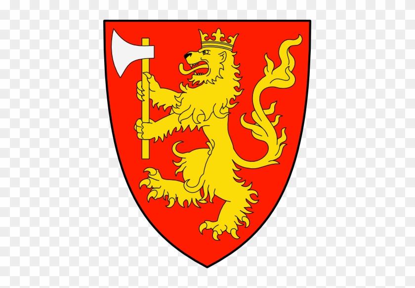 De Gules, León Coronado De Oro Sosteniendo Un Hacha - Polish Coat Of Arms #290562