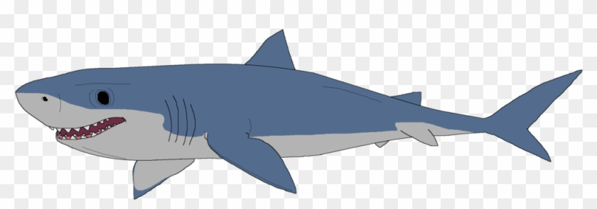 Great White Shark Clipart Drawn - Great White Shark Drawing #290574