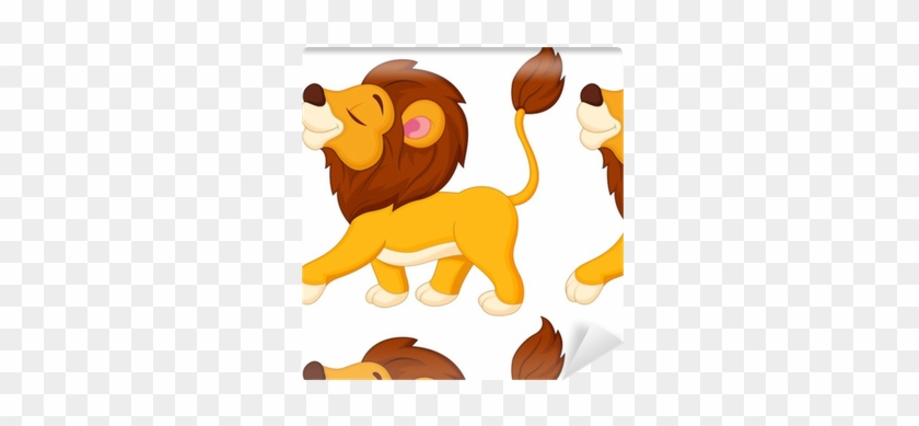 Papel Pintado A Pie De Dibujos Animados León • Pixers® - Walking Cartoon Lion #290592