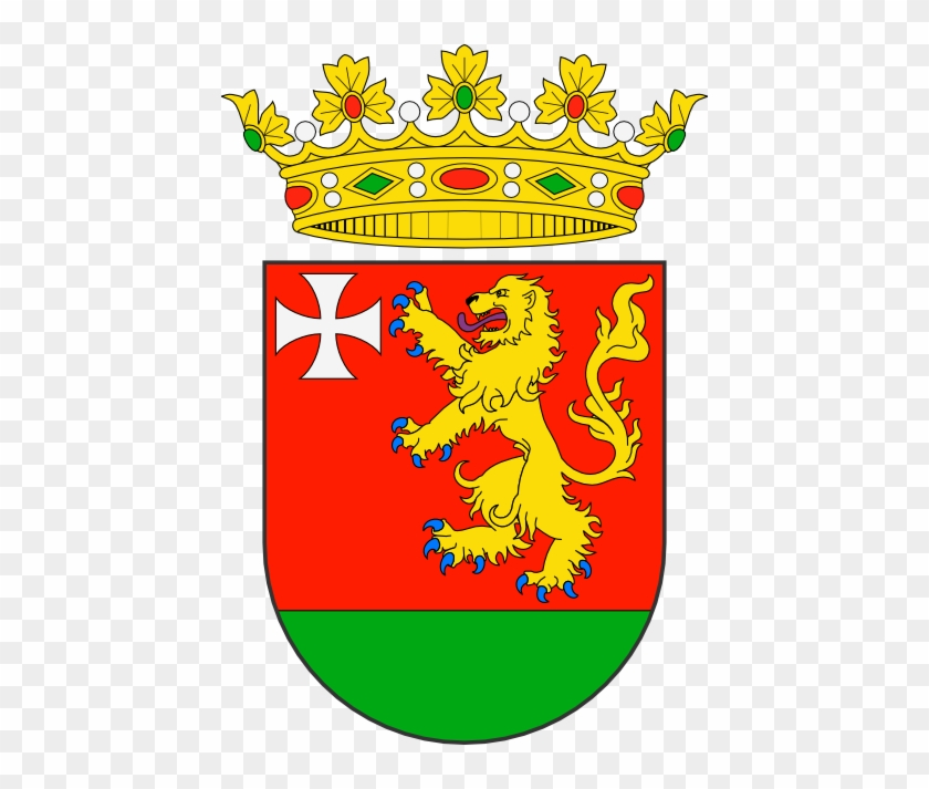 De Gules, Un León De Oro, Lampasado De Púrpura Y Armado - Abeja Heraldica #290611