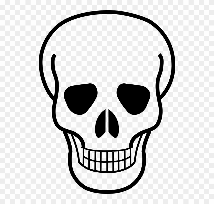 Death Clipart Black And White - Skull And Crossbones Logo #290645