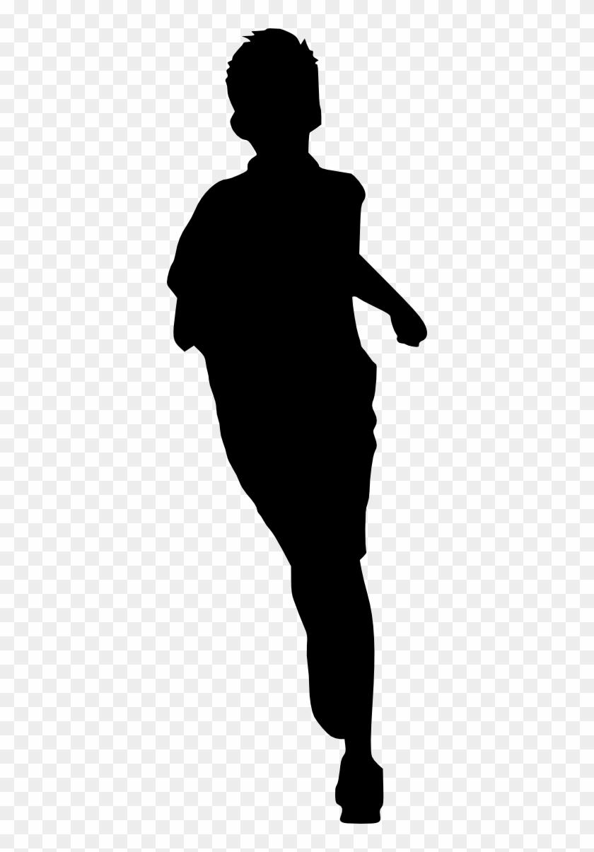Free Download - Kid Running Silhouette #290719