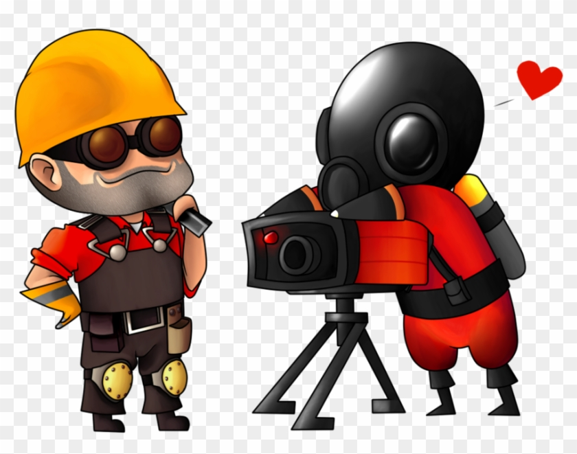Engie And Pyro By Sillyewe - Cute Pyro Spray #290777