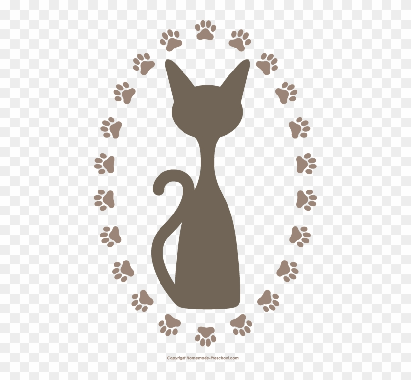 Click To Save Image - Cat Paw Print Clipart #290837