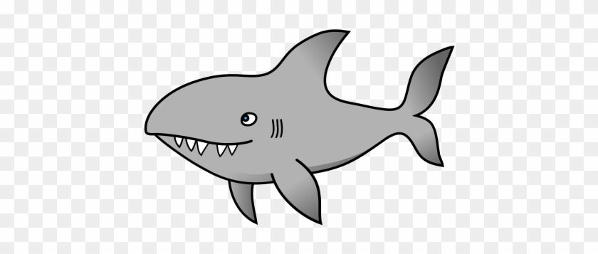 File - Sharky - Svg - Wiki - - Cartoon Shark Transparent Png