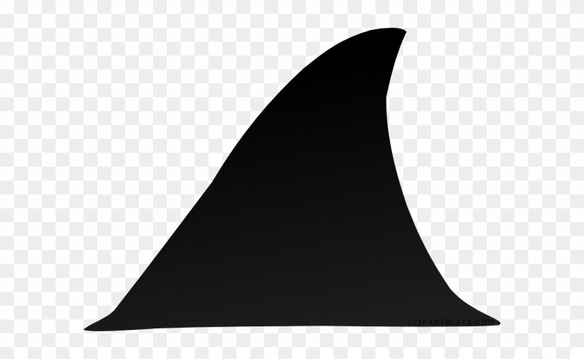 Black And White Shark Animal Free Black White Clipart - Shark Fin Clip Art #290893