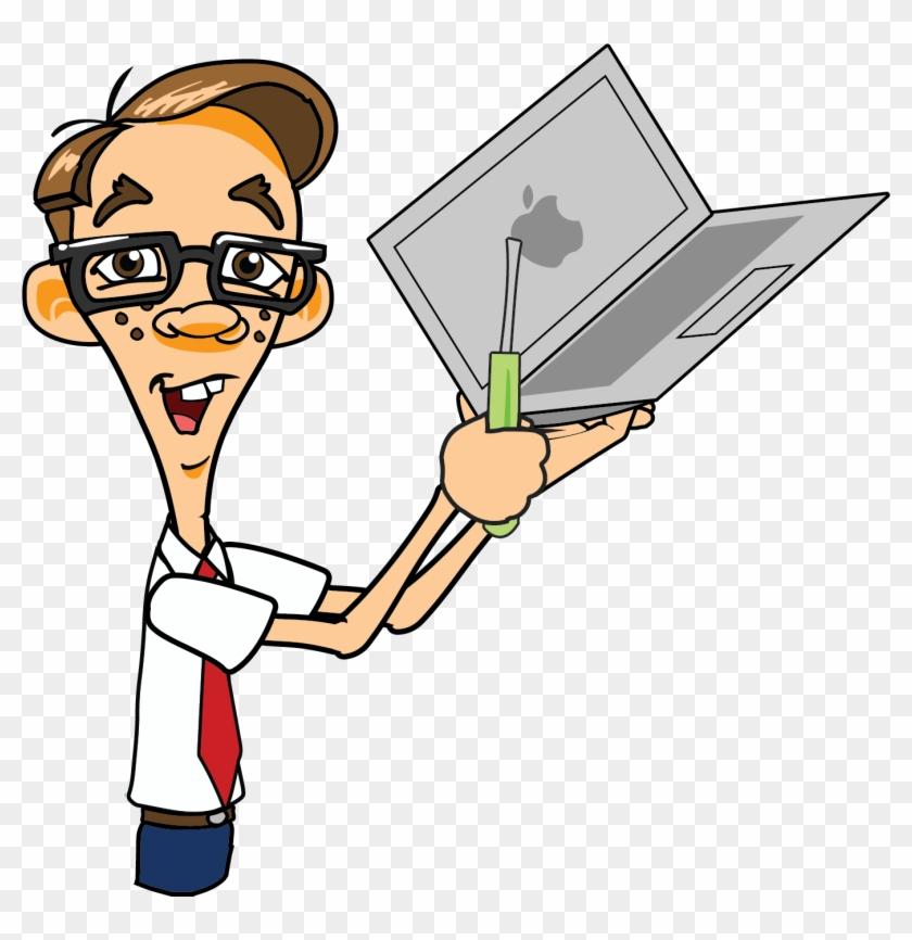 Mac Tune Up South Wairarapa Computers - Guy Fixing Laptop #290898