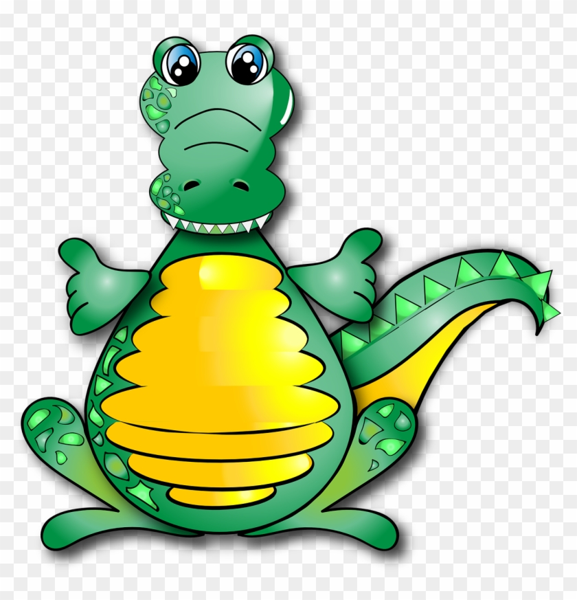 Crocodile, Funny, Alligator, Cute - Gambar Buaya Kartun Lucu #290985