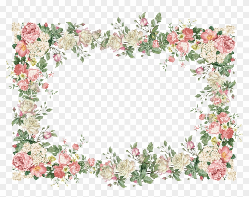 Floral Frame Png File - Vintage Flower Frame #290987