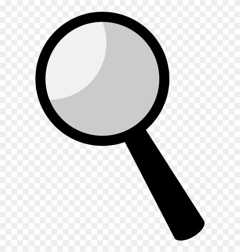 Clip On Magnifying Glass Free Download Clip Art Free - Magnifying Glass Black Clipart #290990