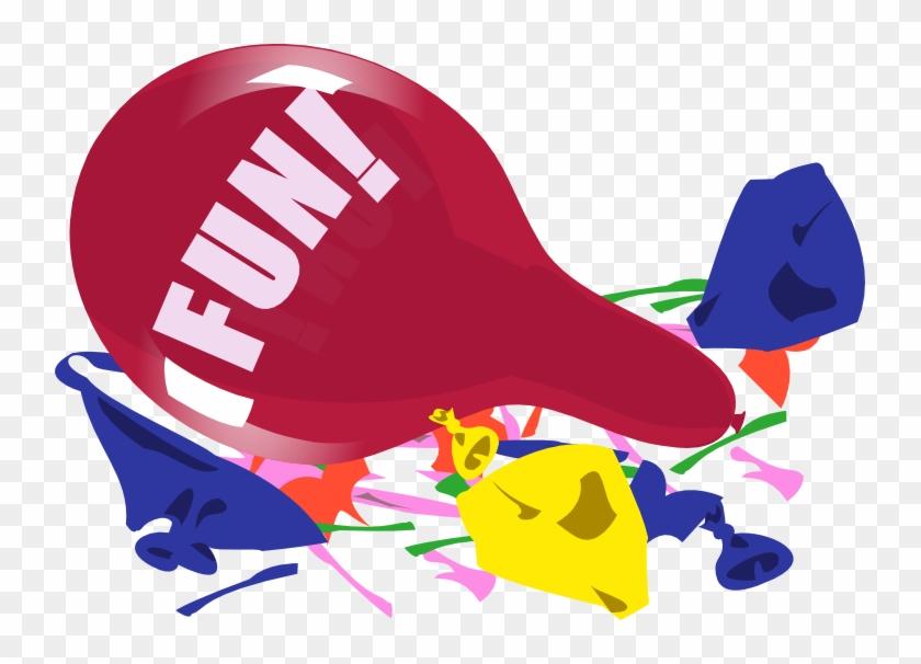 Fun Clipart Burst - Bursting Balloons Clipart #290999
