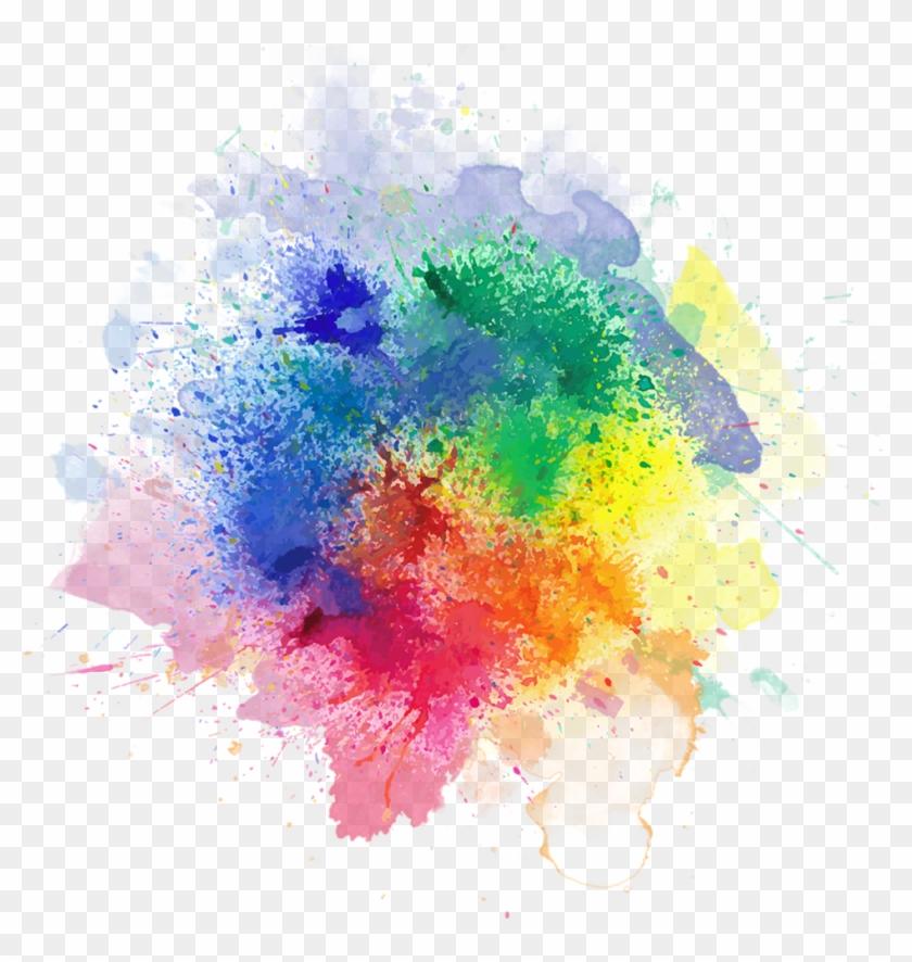 Powder Clipart - - Watercolor Color Splash Png #291016