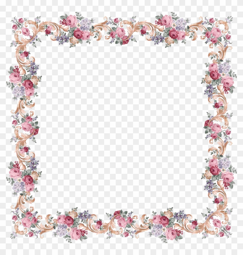 Victorian Floral Frame From Papirolas Coloridas, Free - Backgrounds With Circle In The Middle #291020