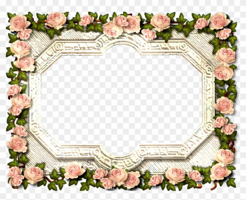 Antique Rose Frame By Scrapbee - Antique Frame Png #291027