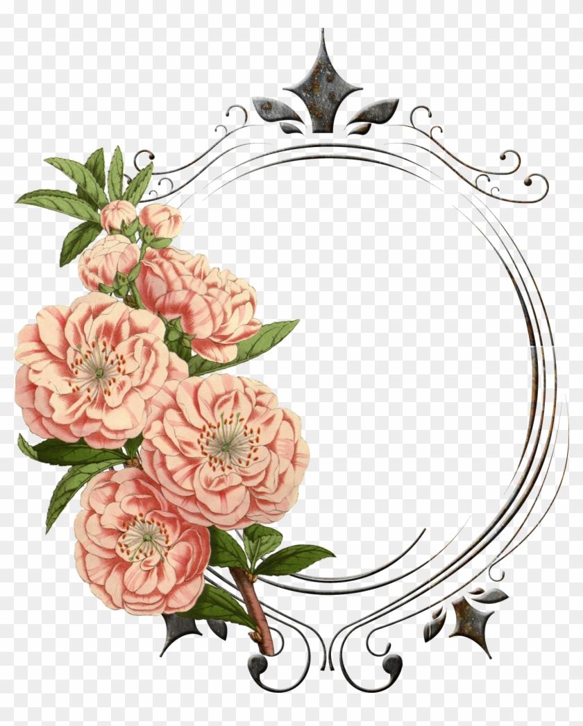 Vintage Flower Clipart Real Flower - Vintage Flower Frames Png #291033