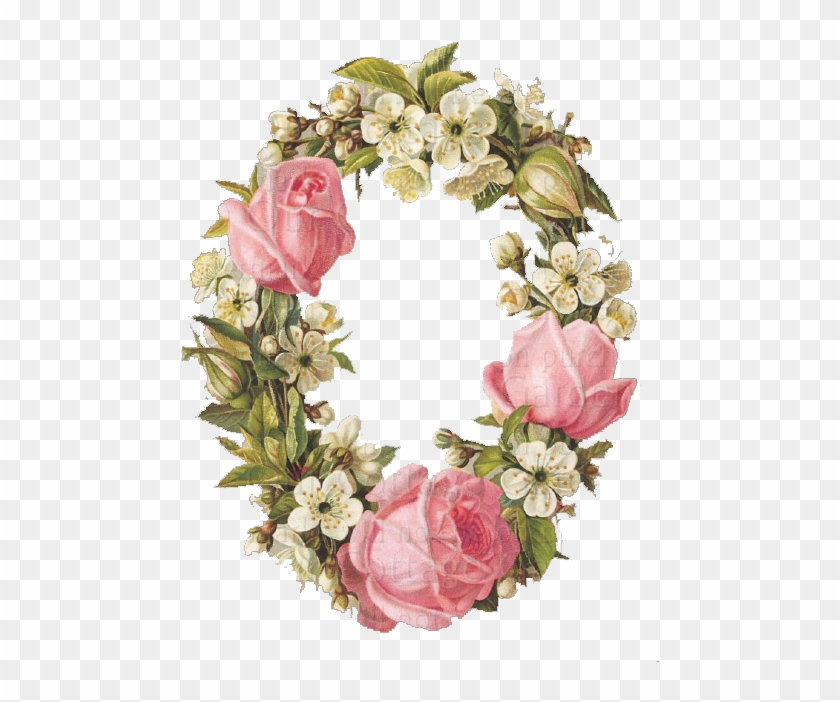 ♥vintage Printable Flower Frame ~ 'romantic Rose' By - Hybrid Tea Rose #291035