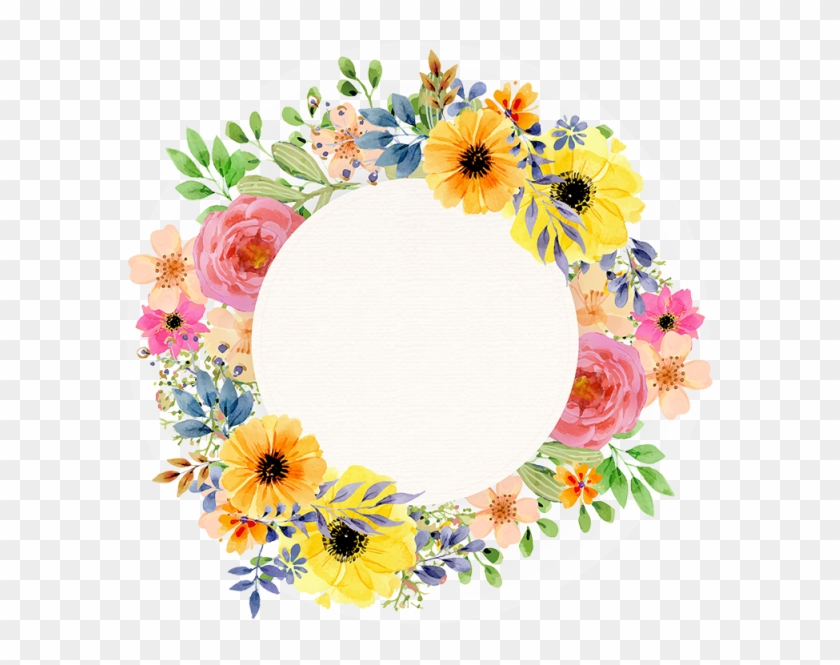Aguarela Floral Primavera Vintage Frame, Aguarela Floral - Latest New Good Morning #291040