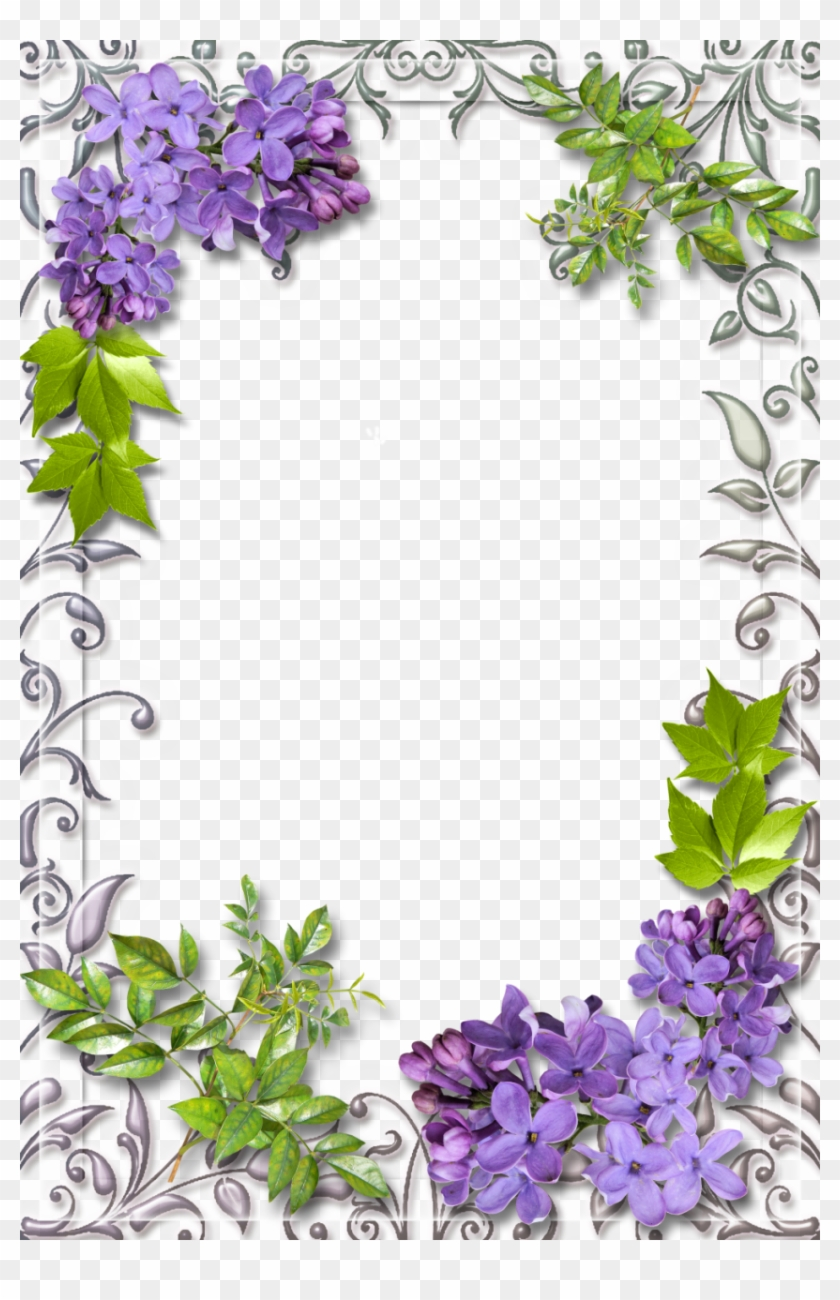 Cute White Frame With Lilac - Lilac Frame Png - Free Transparent PNG ...