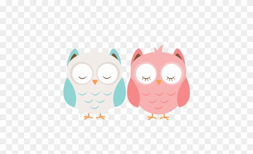 Boy & Girl Owl Svg Cutting File Cute Owl Clipart Free - Cute Owl Svg #291049