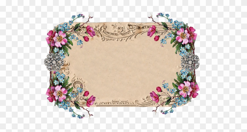Beautiful Vintage Floral Frame From Free Pretty Things - Frame Floral Vintage Hd #291051