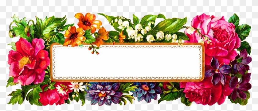 Digital Flower Label - Floral Label Png #291058