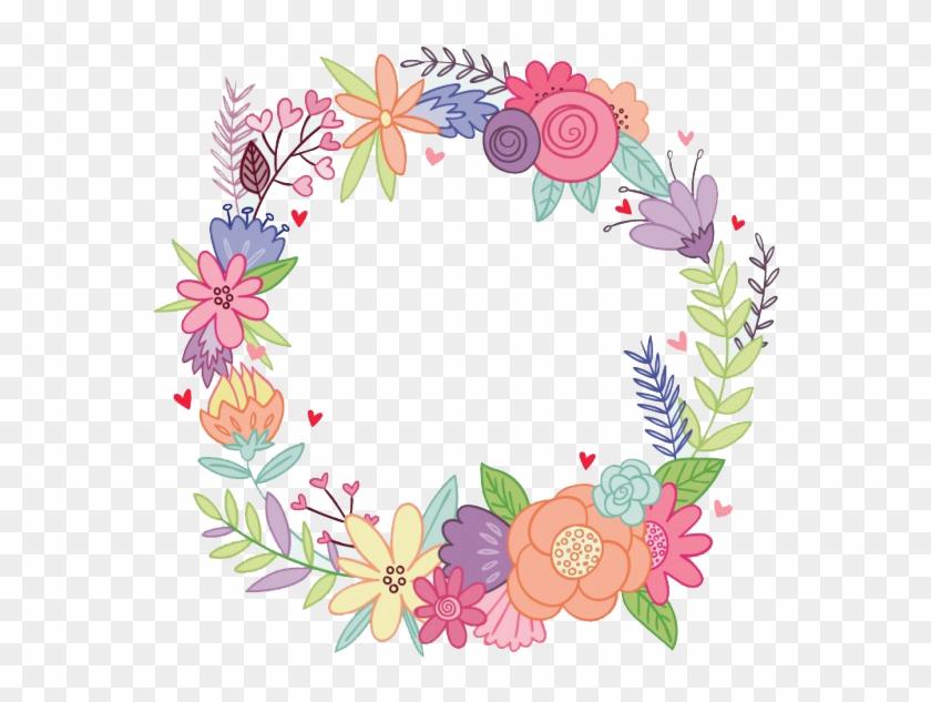 Vintage Frames, Watercolor Flowers, Png, Tatoos, Floral - Corona De Flores Png #291062