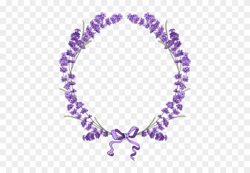 Floral Vintage Background With Lavender [преобразованный] - Lavender Frame Png #291086