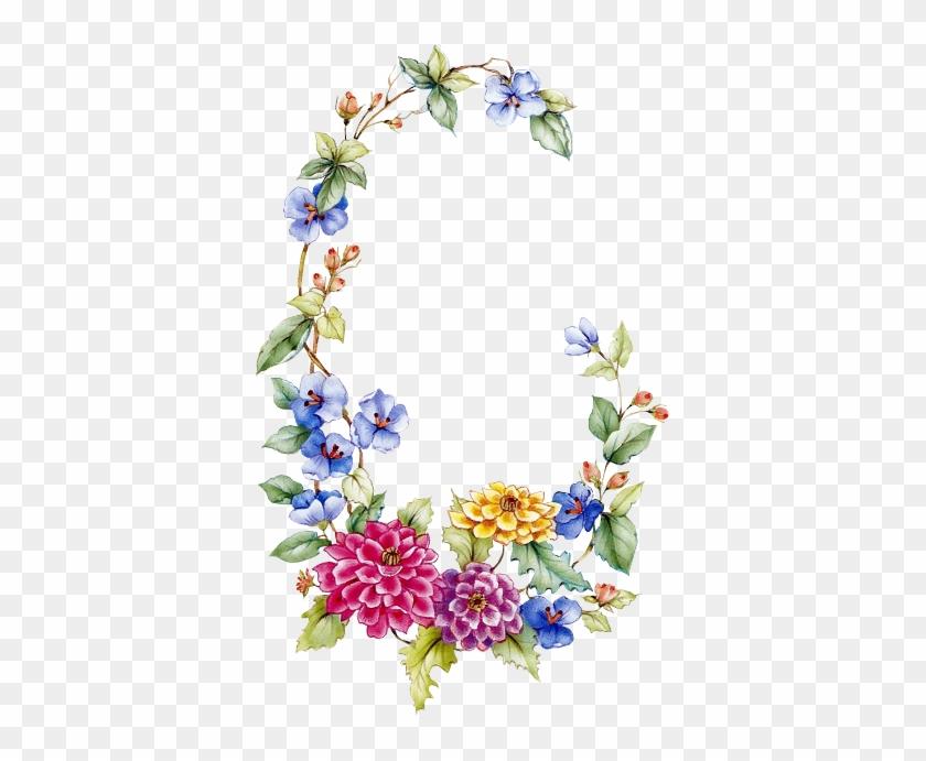 Floral Garland - Oval Flower Frame Png #291111