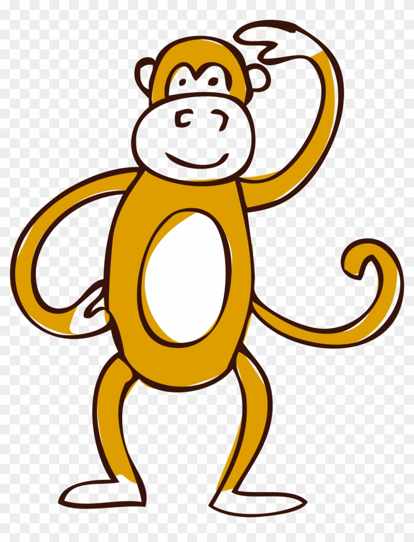 Clip Art - Vector Monkey - Vector Graphics #291175