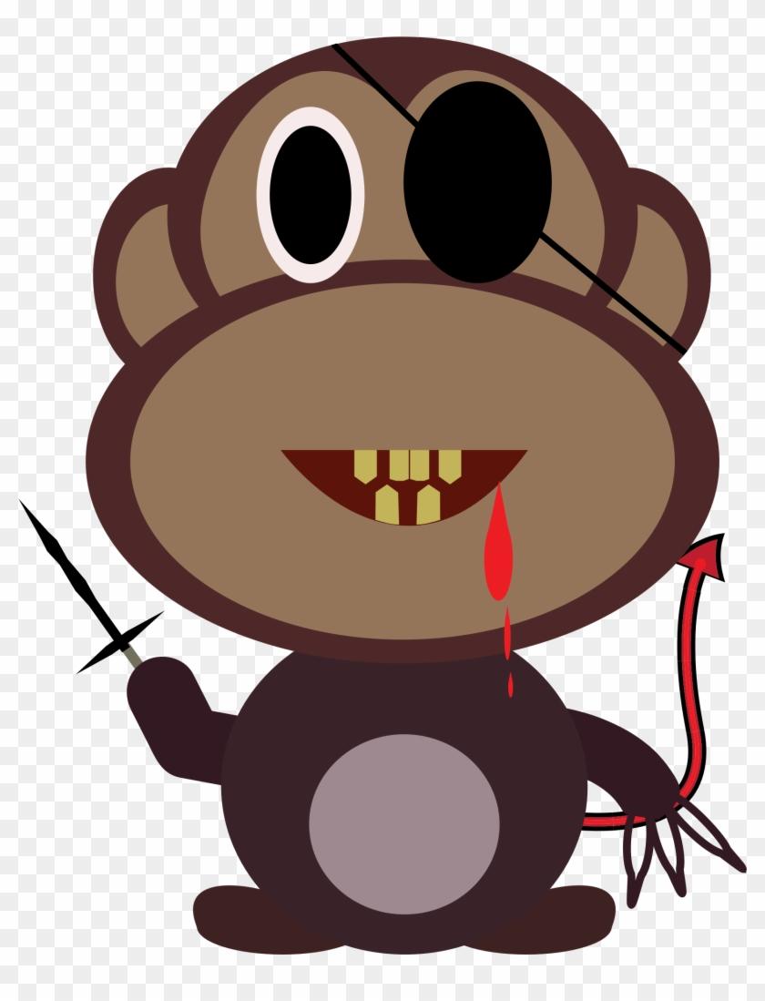 Big Image - Custom Evil Monkey Shower Curtain #291179